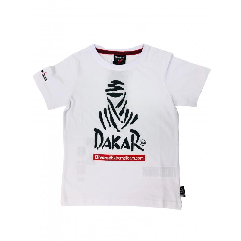 Vaikiški balti marškinėliai DAKAR