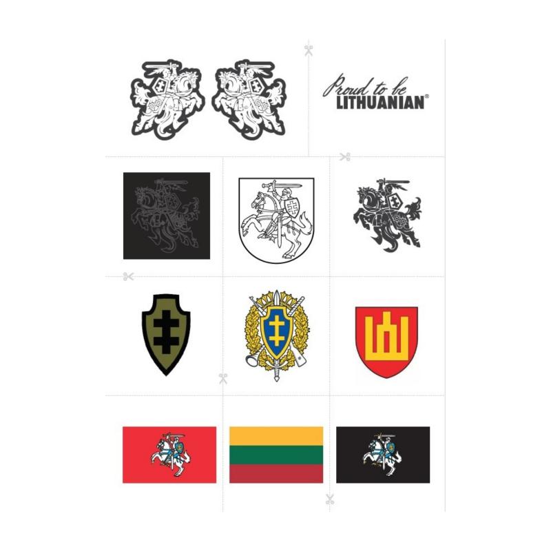 """Tatuiruočių rinkinys """"Proud to be LITHUANIAN"""""""