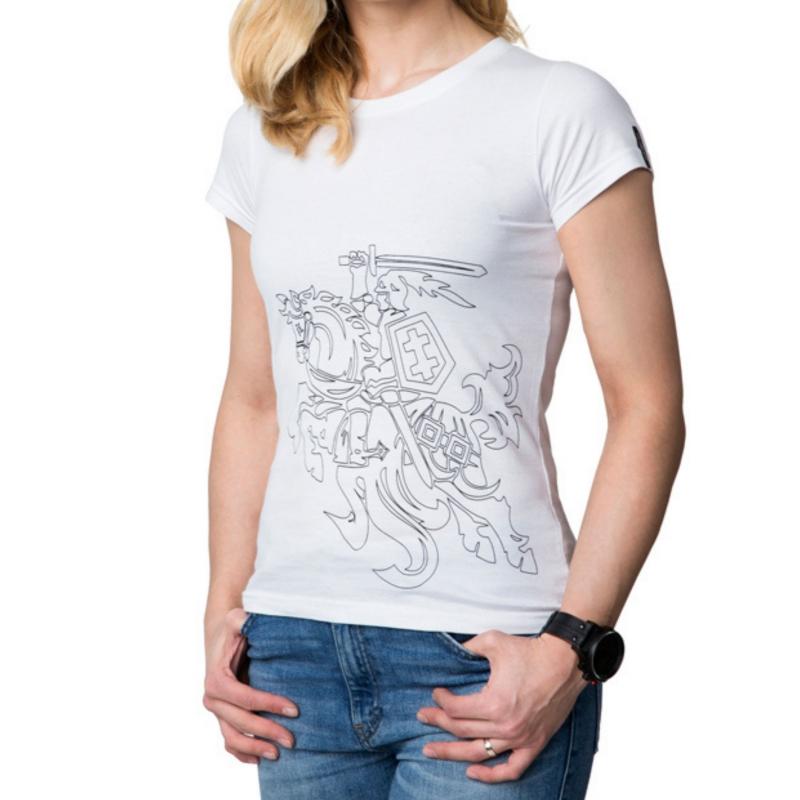 """- 30 % Balti moteriški marškinėliai  """"Vytis"""""""