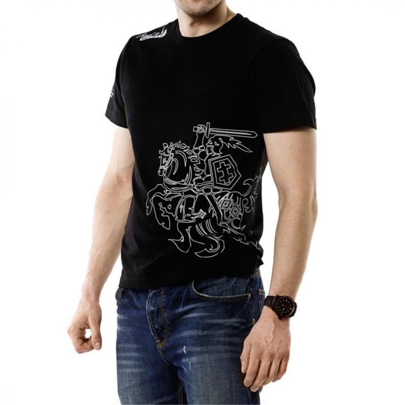 """- 30 % Juodi vyriški marškinėliai  """"Vytis"""""""