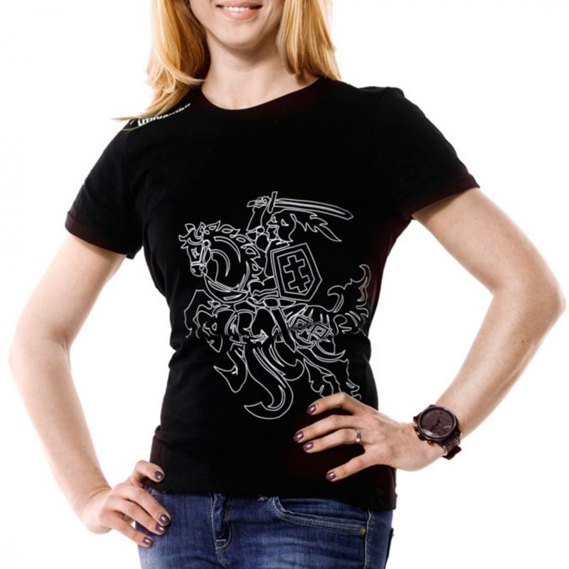 """- 30 % Moteriški juodi marškinėliai  """"Vytis"""""""